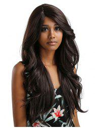 Long Inclined Bang Wavy Feathered Flip Synthetic Lace Front Wig -
