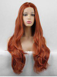 Long Middle Part Slightly Wavy Lace Front Synthetic Wig -
