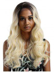 Long Colormix Wavy Lace Front Synthetic Wig -