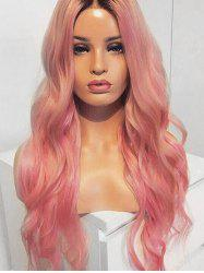 Long Center Parting Ombre Natural Wavy Party Lolita Synthetic Wig -