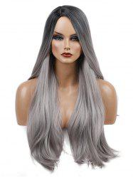 Long Ombre Natural Straight Synthetic -