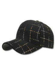 Plaid Adjustable Snapback Hat -