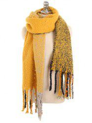 Soft Long Fringed Winter Shawl Scarf -