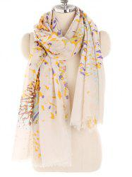 Blooming Floral Printed Lightweight Long Scarf -