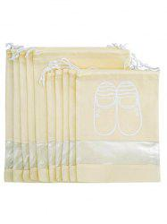 10 Pcs Drawstring Travel Shoes Storage Bag -