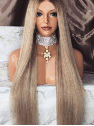Long Middle Part Colormix Straight Synthetic Wig -
