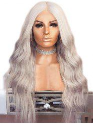 Long Center Parting Natural Wavy Synthetic Wig -