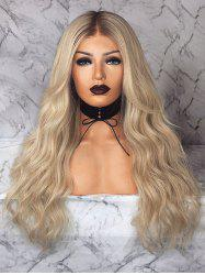 Ombre Natural Wavy Long Center Parting Synthetic Wig -