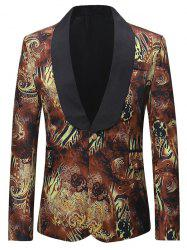 Flap Pocket Design One Button Blazer -