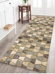 Vintage Geometric Printed Decorative Flannel Bath Mat -