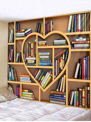 Heart Bookrack Print Wall Tapestry Art Decoration -