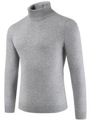 Turtle Neck Whole Color Sweater -