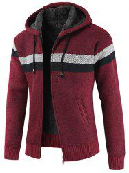 Striped Casual Zipper Placket Sweater -