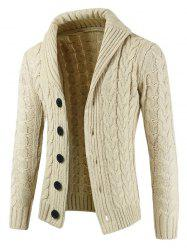Rundown Lapel Collar Solid Color Sweater -