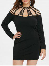 Plus Size Cut Out Mini Bodycon Dress -