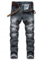 Retro Washed-out Straight Jeans -