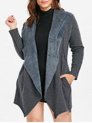 Asymmetrical Plus Size Coat -