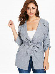 Plus Size Longline Coat -