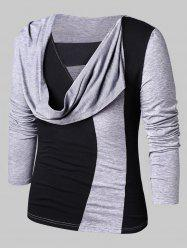 Casual Faux Twinset Panel T-shirt -