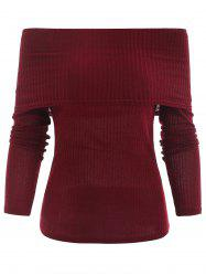 Off The Shoulder Ribbed Knitwear -