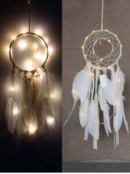 Feathers Handmade Dream Catcher with String Light -