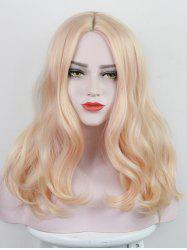 Long Center Parting Colorful Wavy Party Synthetic Wig -