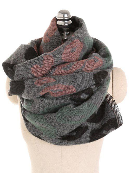 Shops Winter Leopard Pattern Fringed Scarf