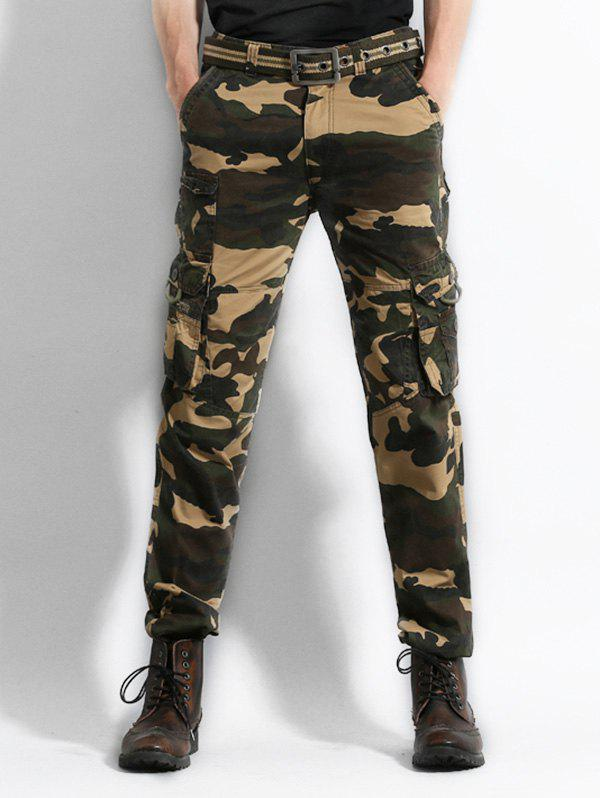 Outfit Zip Fly Camo Print Cargo Pants
