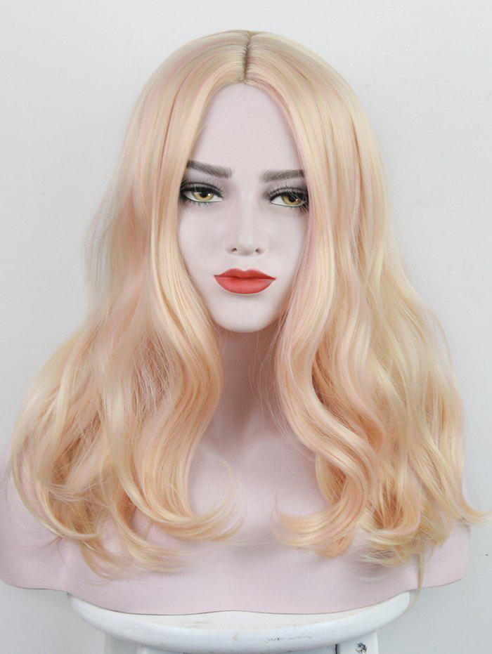 Outfit Long Center Parting Colorful Wavy Party Synthetic Wig