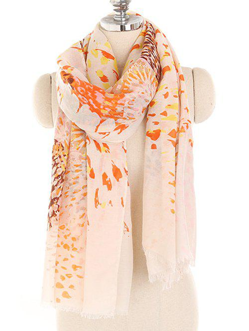 Outfit Blooming Floral Printed Lightweight Long Scarf
