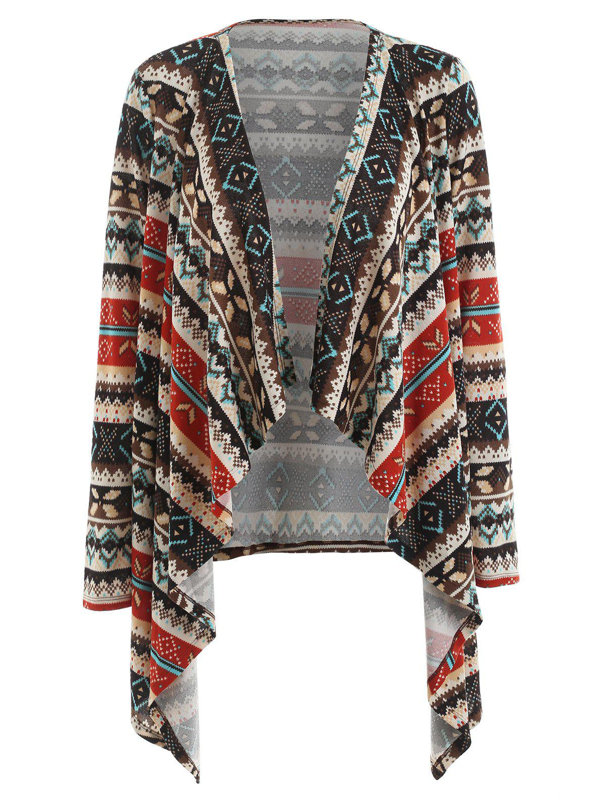 Shops Christmas Print Open Front Cardigan