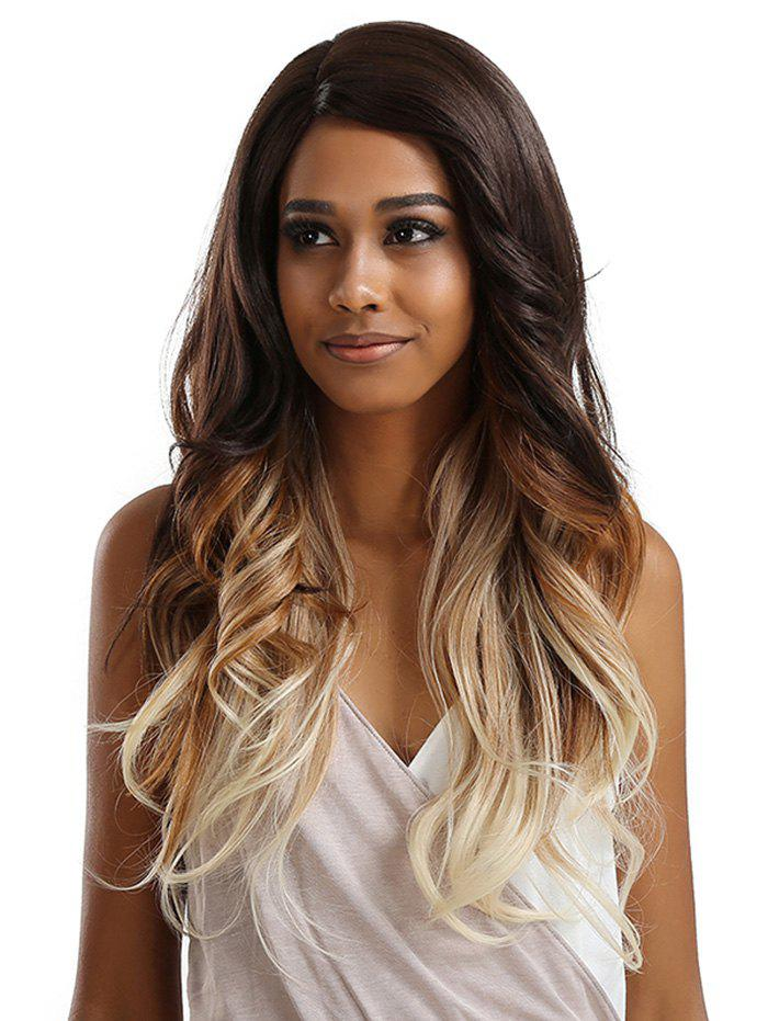 Sale Long Inclined Bang Wavy Feathered Flip Synthetic Lace Front Wig