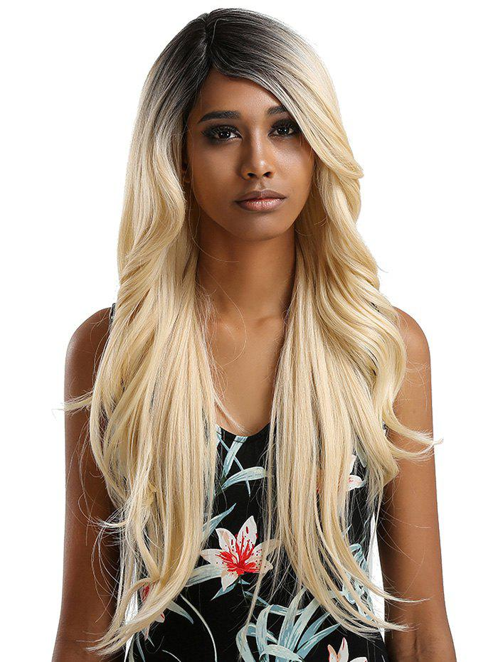 Trendy Long Inclined Bang Wavy Feathered Flip Synthetic Lace Front Wig