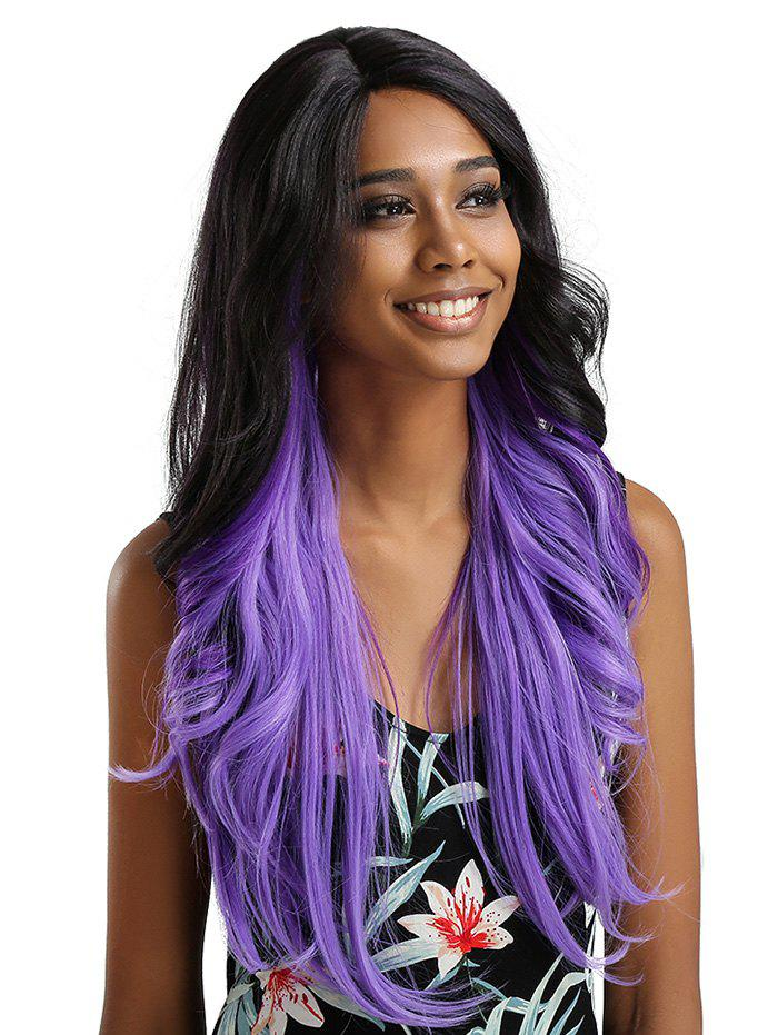 Outfits Long Inclined Bang Wavy Feathered Flip Synthetic Lace Front Wig