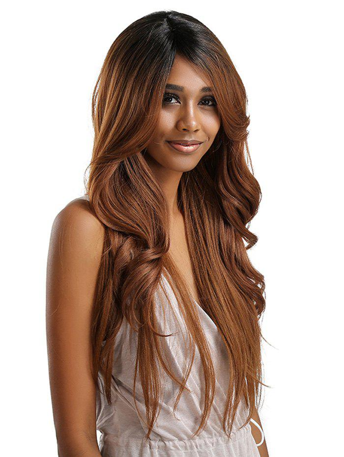 Outfit Long Inclined Bang Wavy Feathered Flip Synthetic Lace Front Wig