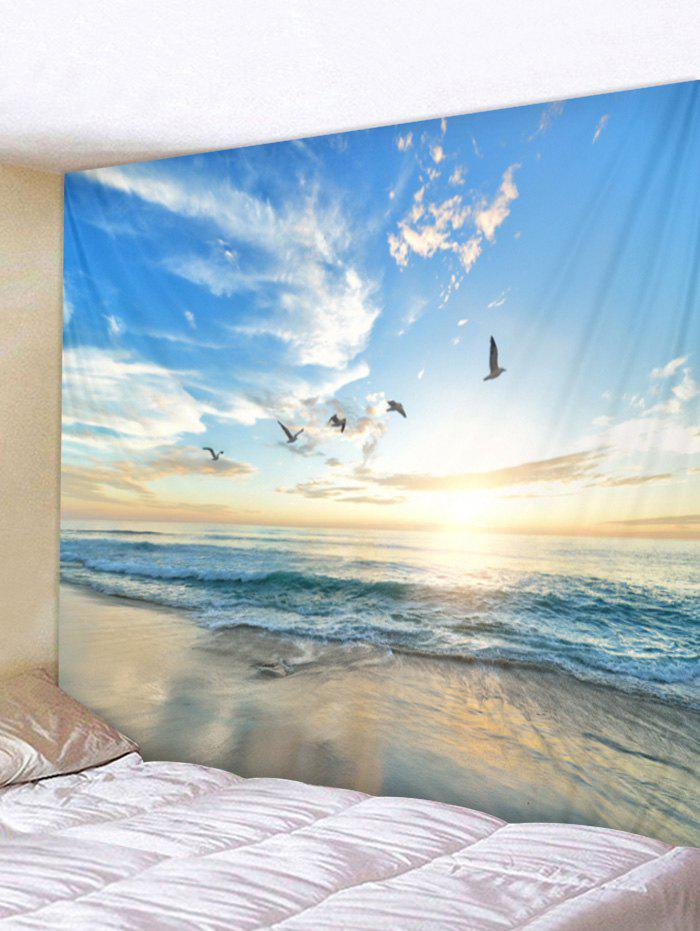 Tapisserie d'art Sunrise Beach Art Multi Largeur 79 x Longueur 59 pouces