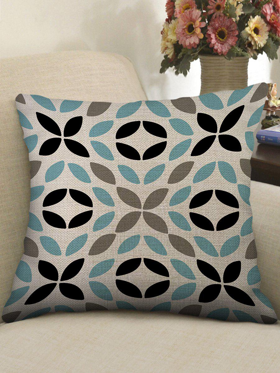 Cheap Leaf Print Decorative Sofa Linen Pillowcase
