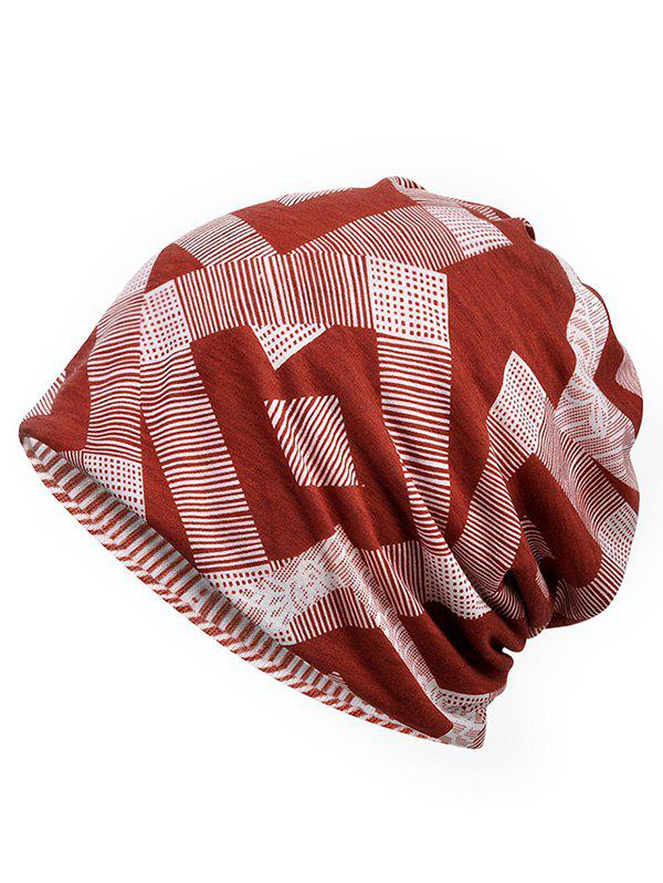 Store Lightweight Geometry Pattern Beanie