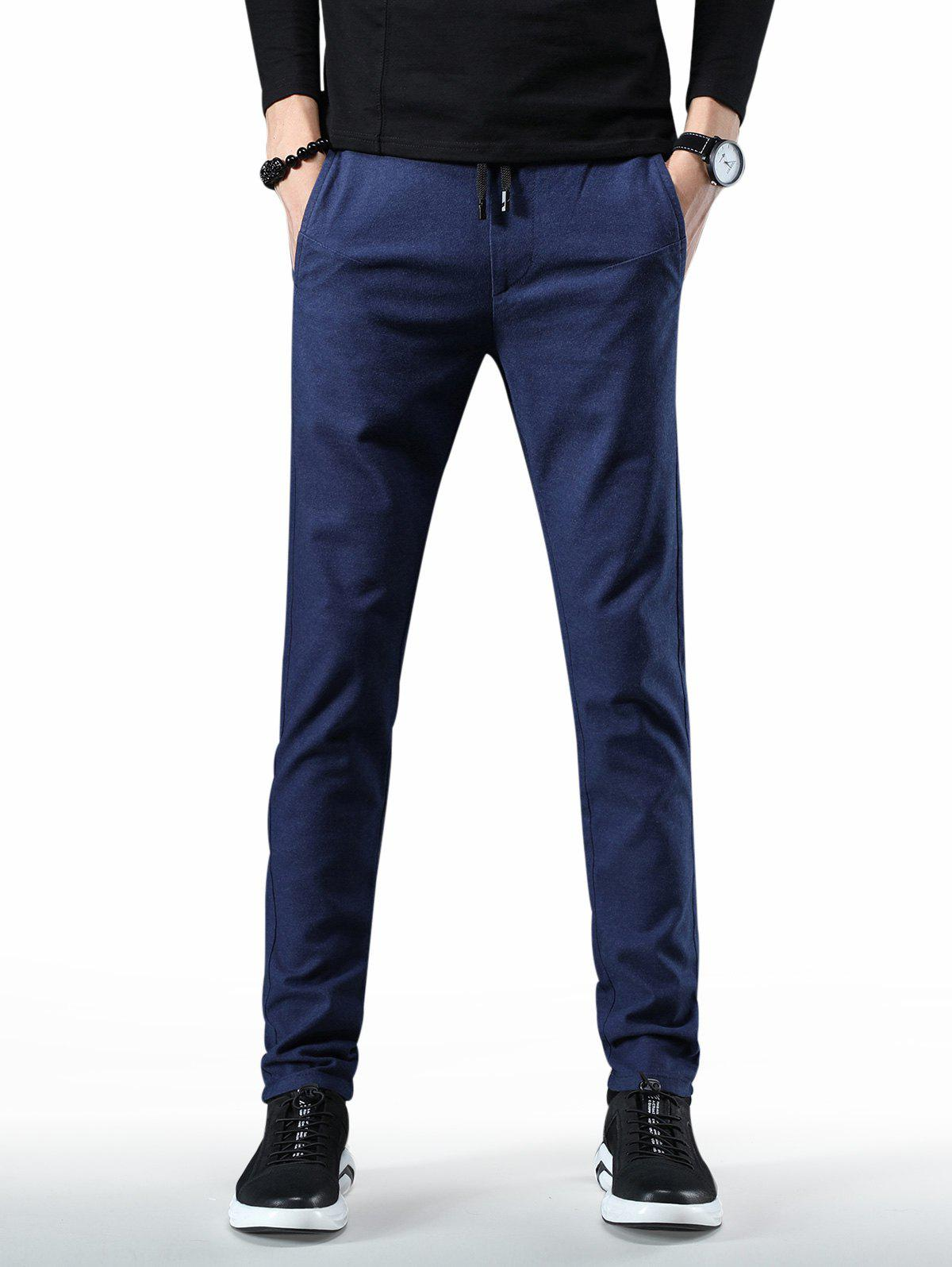 Latest Drawstring Waist Solid Color Pants