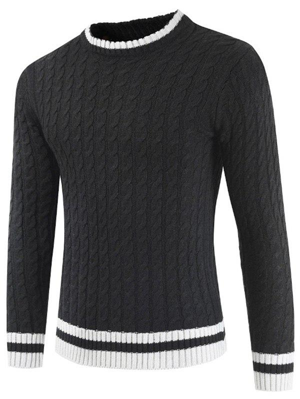 Latest Casual Pullover Round Neck Ringer Sweater