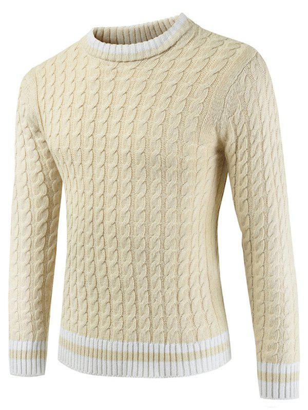 Discount Casual Pullover Round Neck Ringer Sweater
