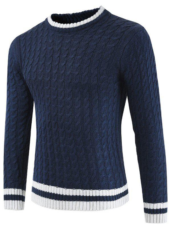 Online Casual Pullover Round Neck Ringer Sweater