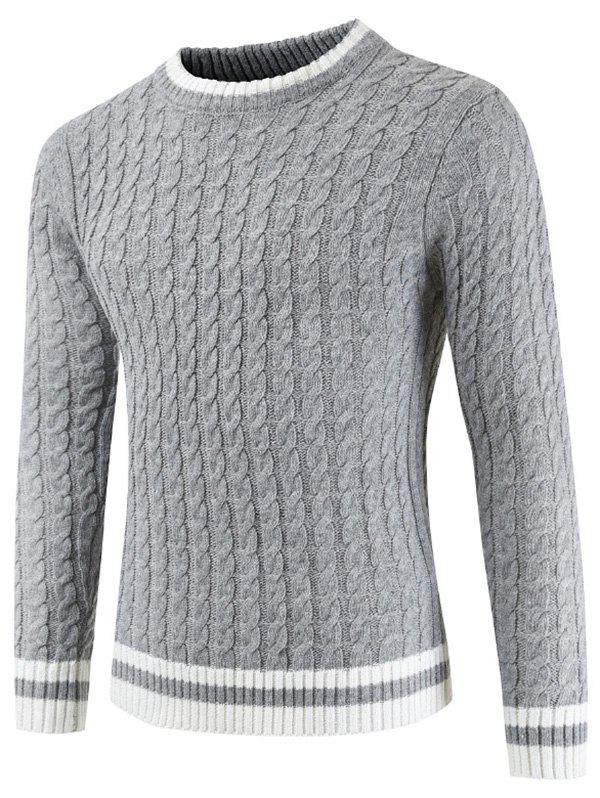 Trendy Casual Pullover Round Neck Ringer Sweater