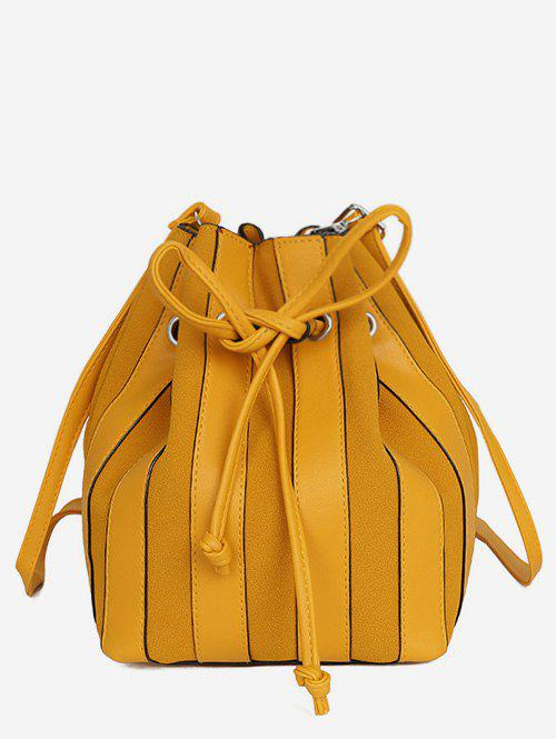 Buy String Design Striped Bucket  Bag