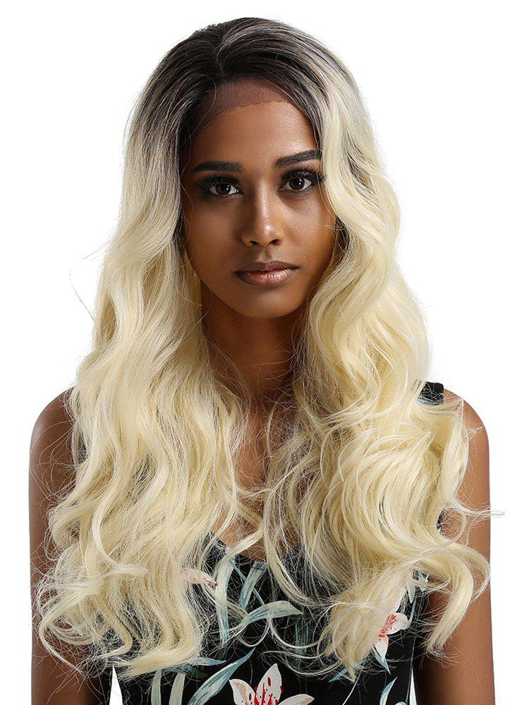 Fashion Long Colormix Wavy Lace Front Synthetic Wig