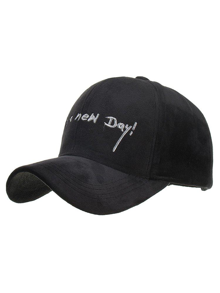 Affordable Fun Letter Embroidery Corduroy Baseball Cap