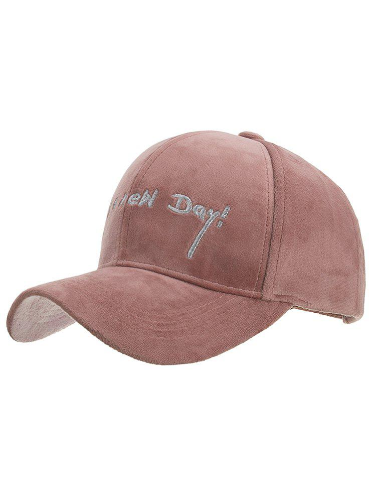 Unique Fun Letter Embroidery Corduroy Baseball Cap