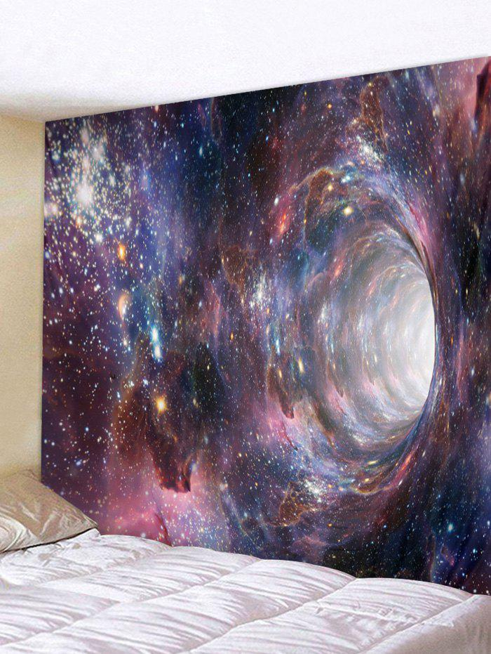 Trendy Wall Hanging Art Galaxy Hole Print Tapestry