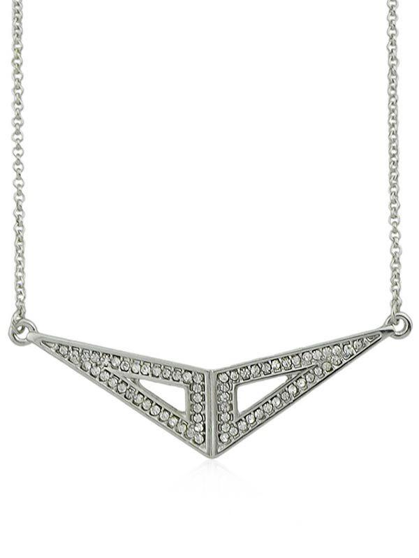 Shop Rhinestone Triangle Geometric Shape Necklace