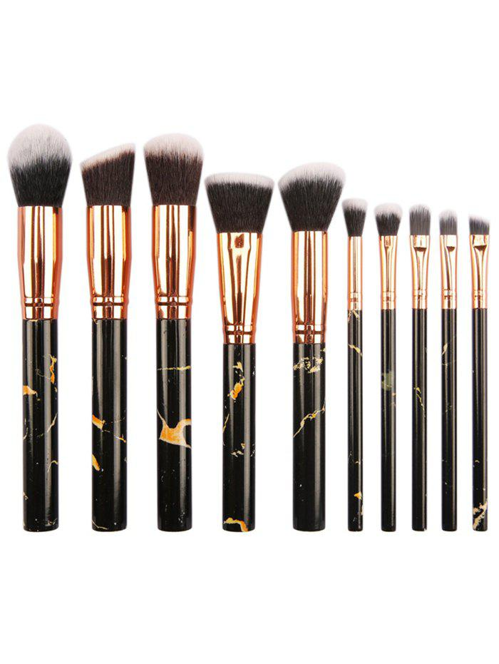 Unique 10Pcs Fiber Hair Foundation Blush Contour Brush Suit